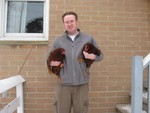 Matt loves chickens.  Their names are Cluck Cluck and Dr Mestophacles.